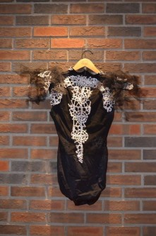 For Rent Item 005. Leotard with silver and tulle embellishments. Contemporary/Jazz; size: senior.