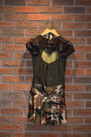 For Rent Item 012. Army inspired jazz dress