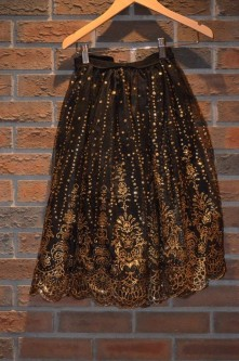 For Rent Item 018. Black and gold skirt, size: senior