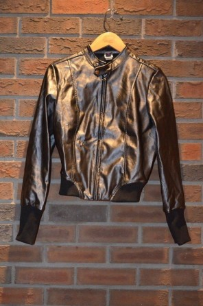 For Rent Item 019. Steel grey bomber style jacket, there are two of these, size: senior.