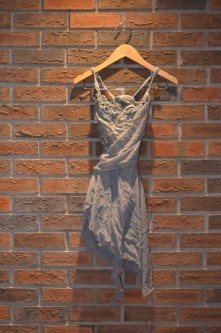 For Rent Item 024. Grey dress with lace bodice, lyrical/contemporary, size: intermediate. There are three of these costumes.