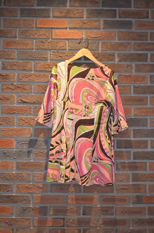 "For Rent Item 035. Hippy/ ""60's"" style dress; size: intermediate/senior."