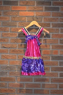 For Rent Item 040. Pink and purple leotard short, silver accents