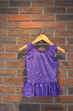 For Rent Item 059. Purple sequin top; size: junior