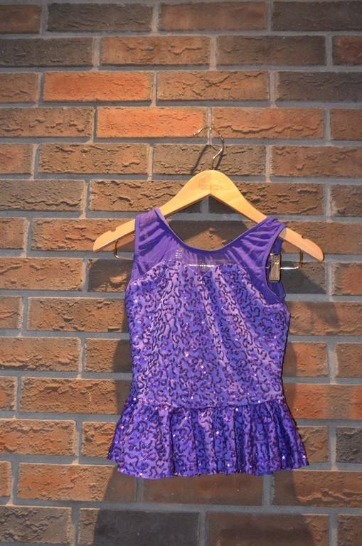 For Rent Item 059. Purple sequin top; size: junior