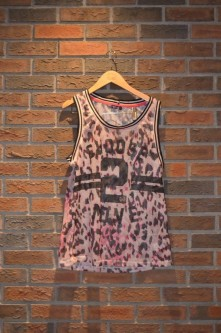 For Rent Item 060. Leopard print with the number '2' basketball tank top; hiphop; size: intermediate/senior